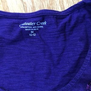 Coldwater Creek Tops - Cold Water Creek Purple t-shirt with sequence